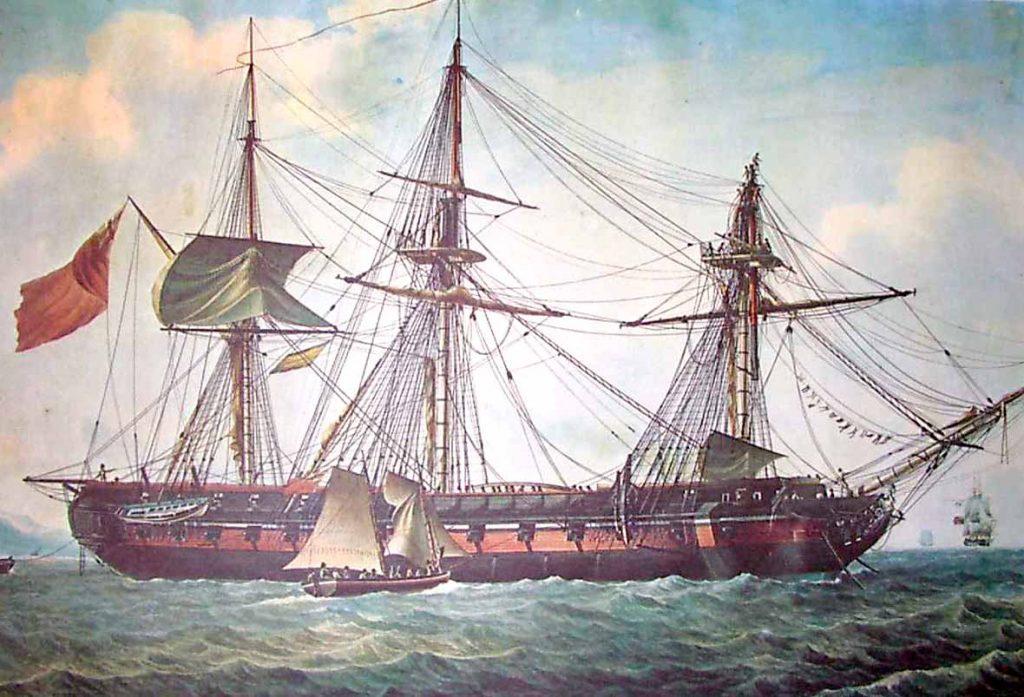 Fragata Proserpine (1777) de la clase Iphigénie