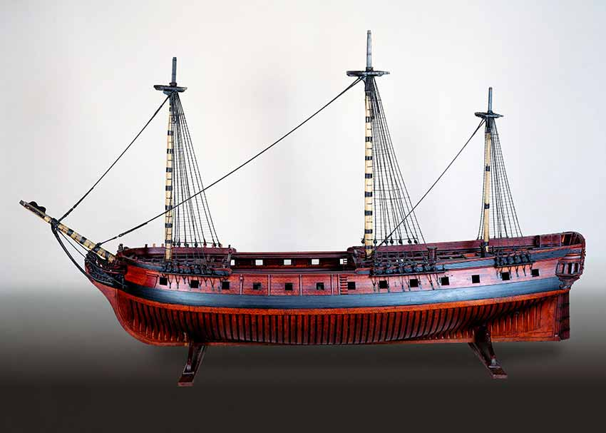 Fragata española Santa Rosalía de 26 cañones.