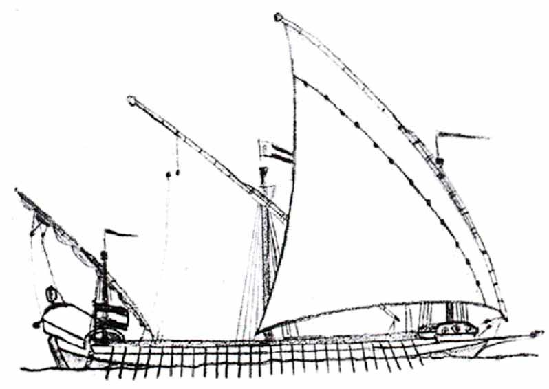 Galera española de la segunda mitad del siglo XVIII.