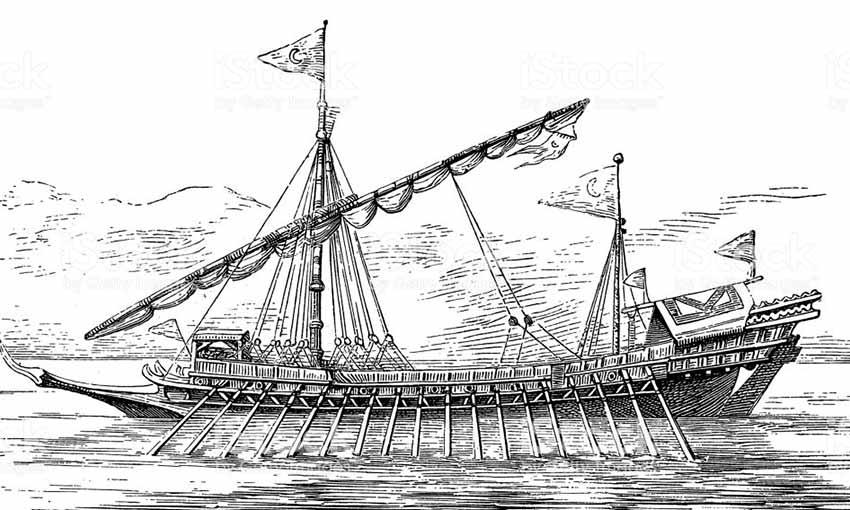 Galera turca del siglo XVII