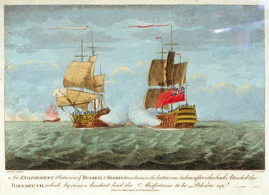 Combate del navío Glorioso y el navío Russell