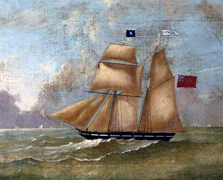 Goleta británica similar a la apresada HMS Crafty