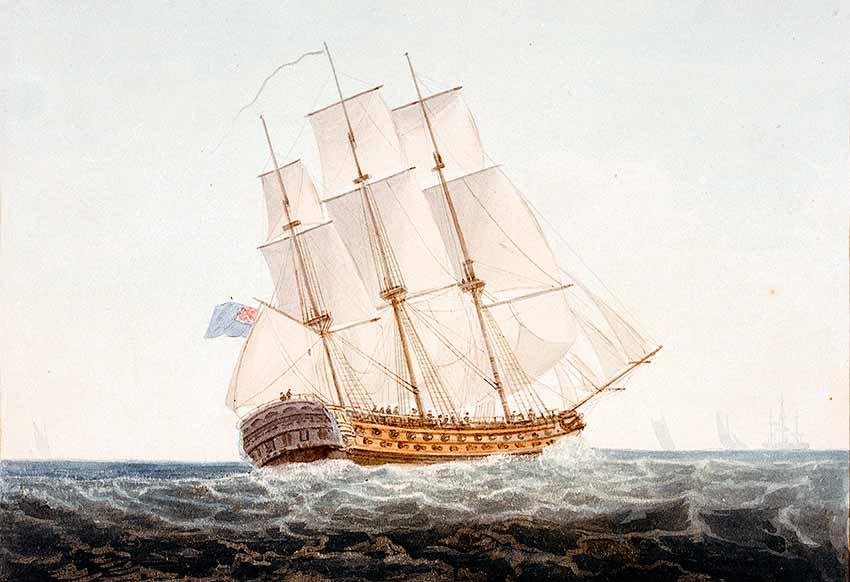 Navío HMS Ajax en 1798