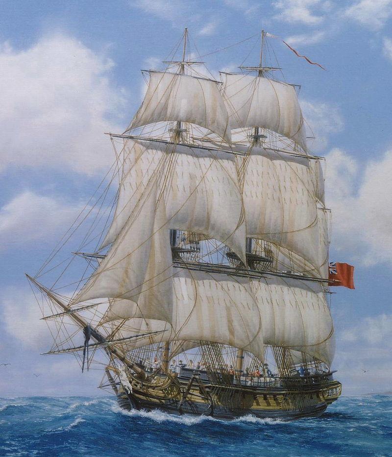 fragata de 36 cañones HMS melampus