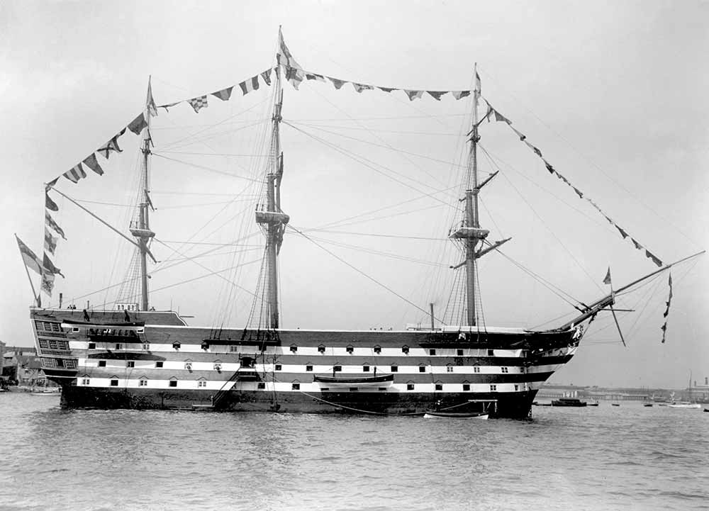 El navío HMS Victory en una fotografía de 1922