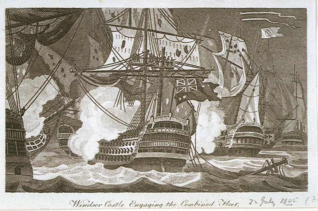 El HMS Windsor Castle en la batalla de Finisterre.