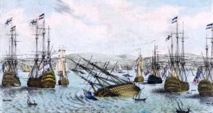 Hundimiento del HMS Royal George en 1782