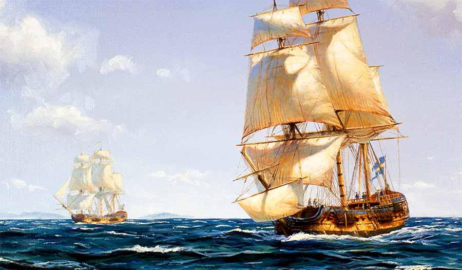 El East Indiaman sueco Götheborg navegando