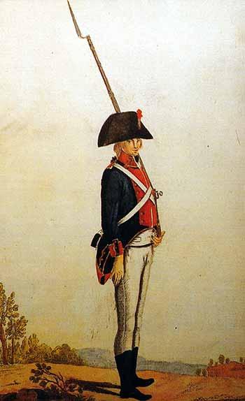 Infante de marina español de 1805