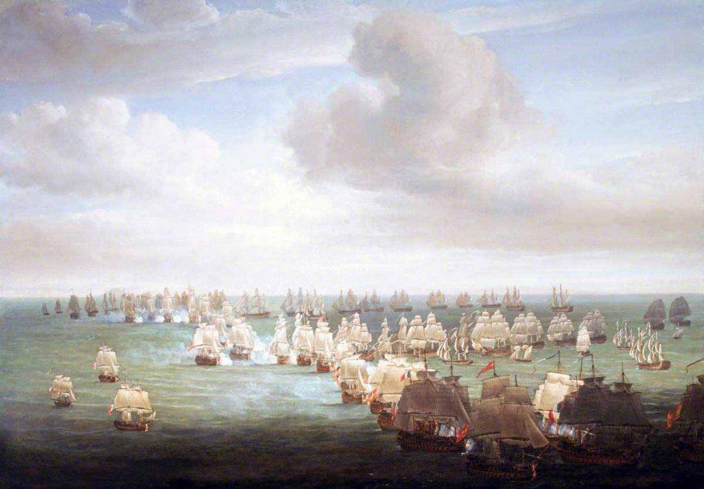 """""""La batalla de Trafalgar, 21 octubre de 1805: Inicio de la batalla"""""""