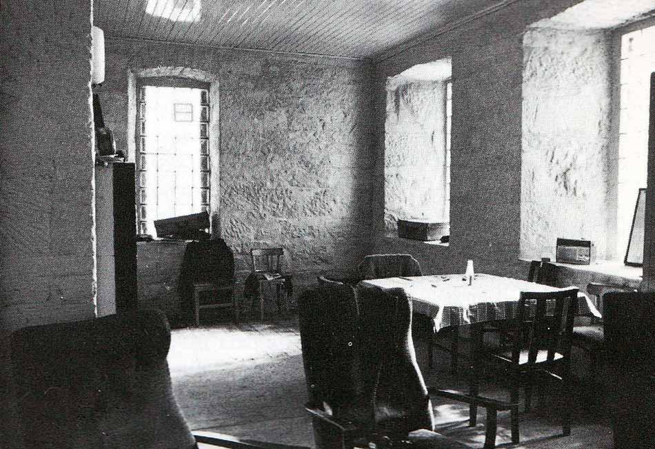 Interior de la casa de los guardas
