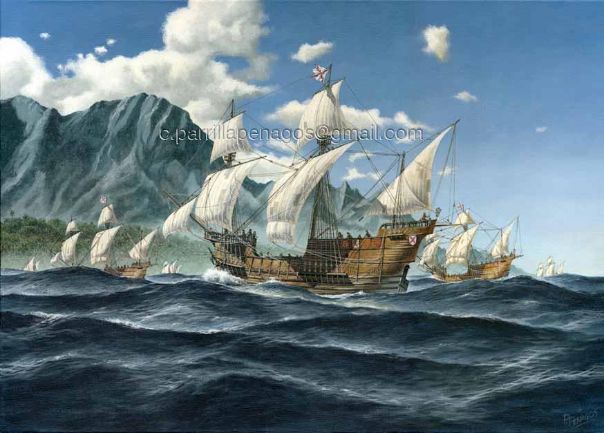 Pintura Islas del Rey, de Carlos Parrilla