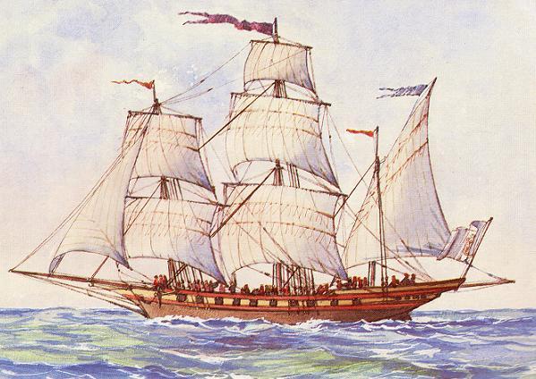 jabeque Gamo de la real armada española