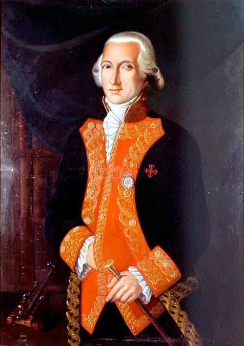 Retrato del capitán general de la Armada Española Juan de Lángara y Huarte.