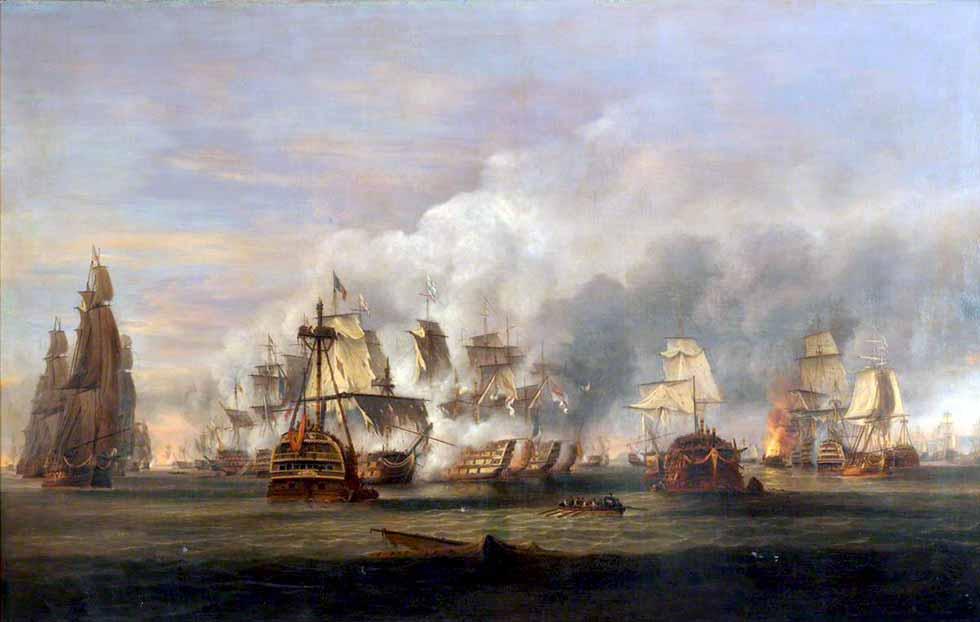 La batalla de Trafalgar, 21 octubre de 1805