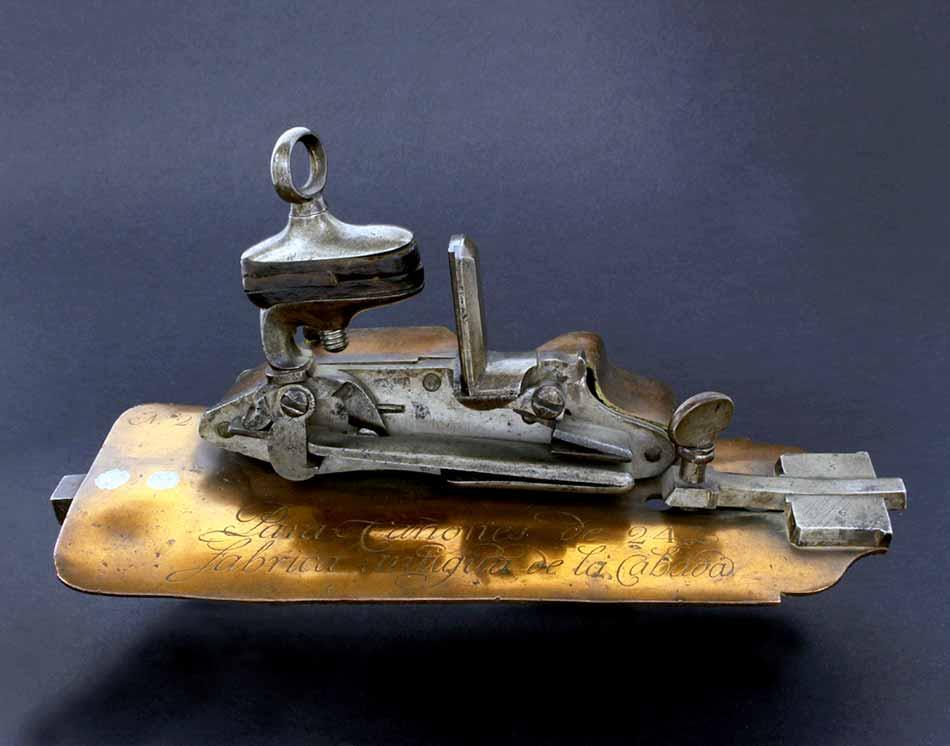Llave de artillería para cañón de 24 libras, fabricada en La Cavada.