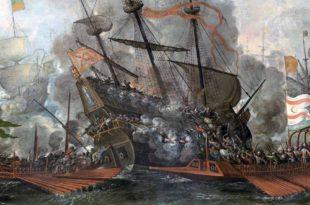 Combate naval de españoles y turcos
