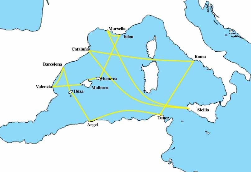 Mapa de la actividad corsaria