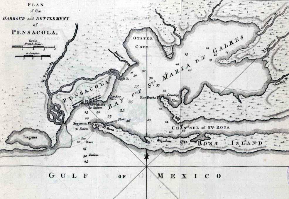 Mapa Pensacola de 1774