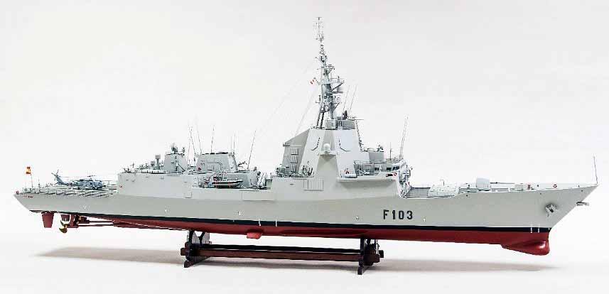 Modelo de la fragata Blas de Lezo de la Armada española, que rinde así homenaje a uno de sus ilustres marinos.