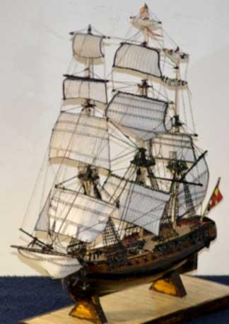 Maqueta de la fragata Soledad