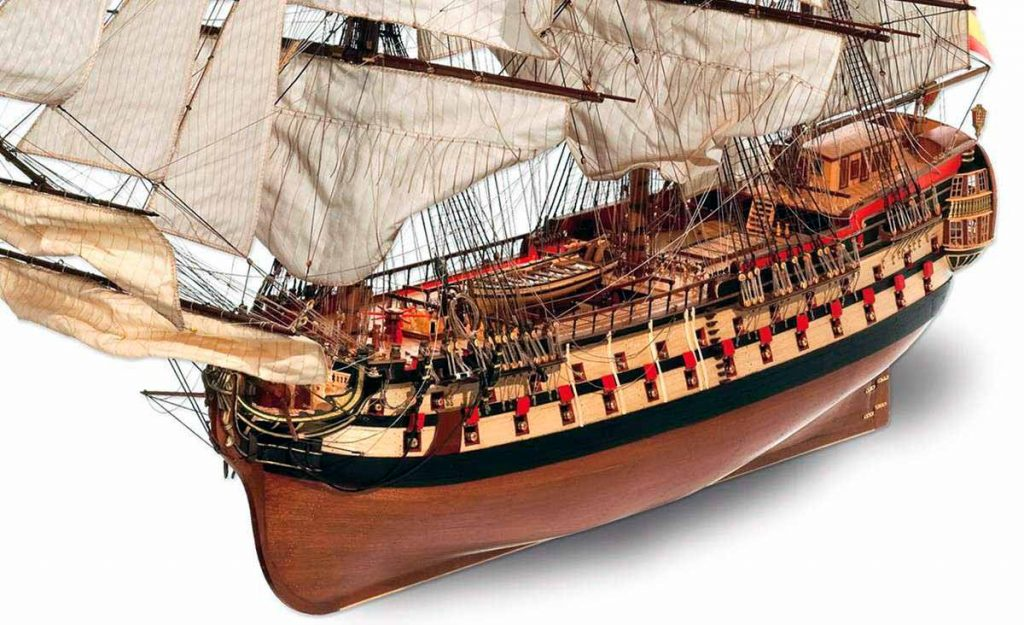 Maqueta del navío Montañés