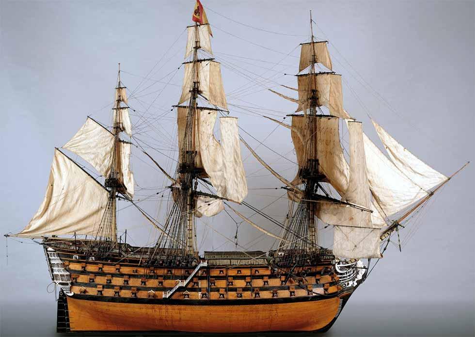 Maqueta del navío Real Borbón, de 112 cañones