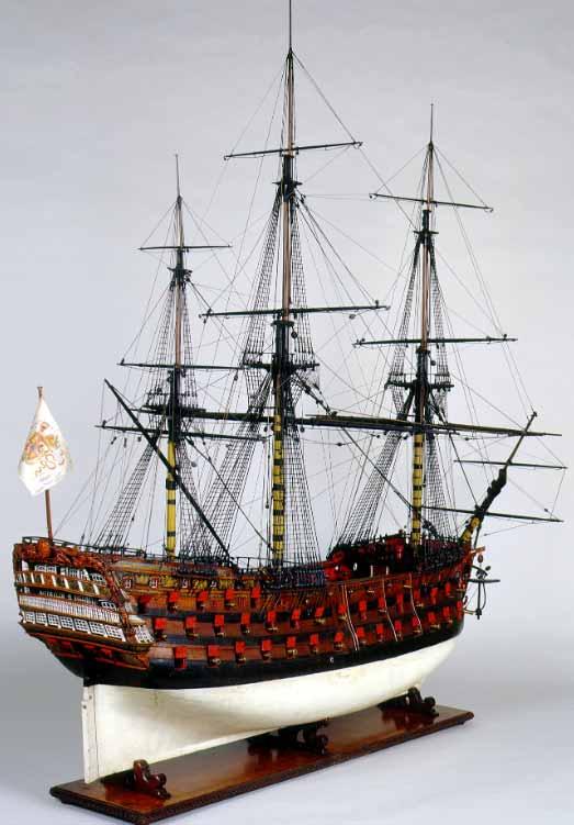 Maqueta del navío Santísima Trinidad, del Museo Naval de Madrid.