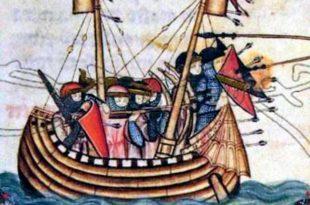 Marina castellana medieval atacando
