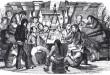 Marineros británicos cantando a bordo de un navío