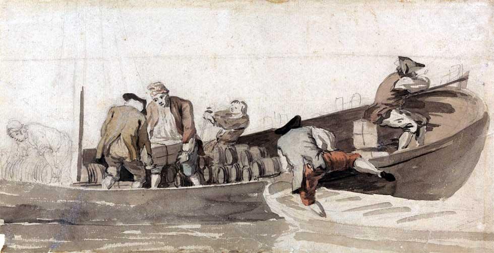 marineros en bote