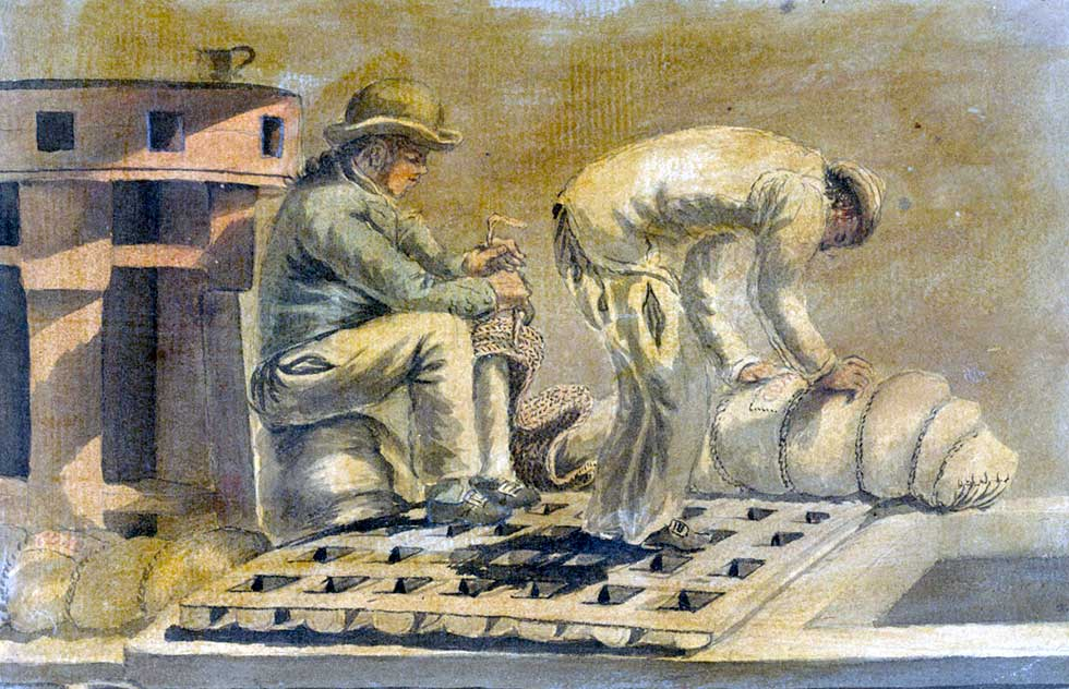 marineros del siglo XVIII