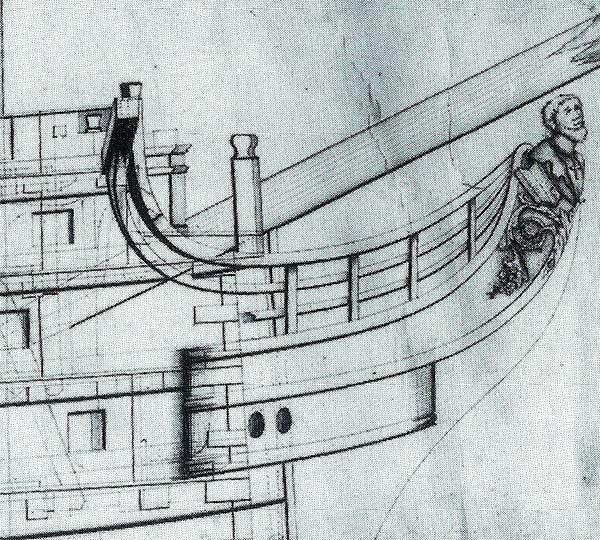 Mascarón de proa del HMS San Jose