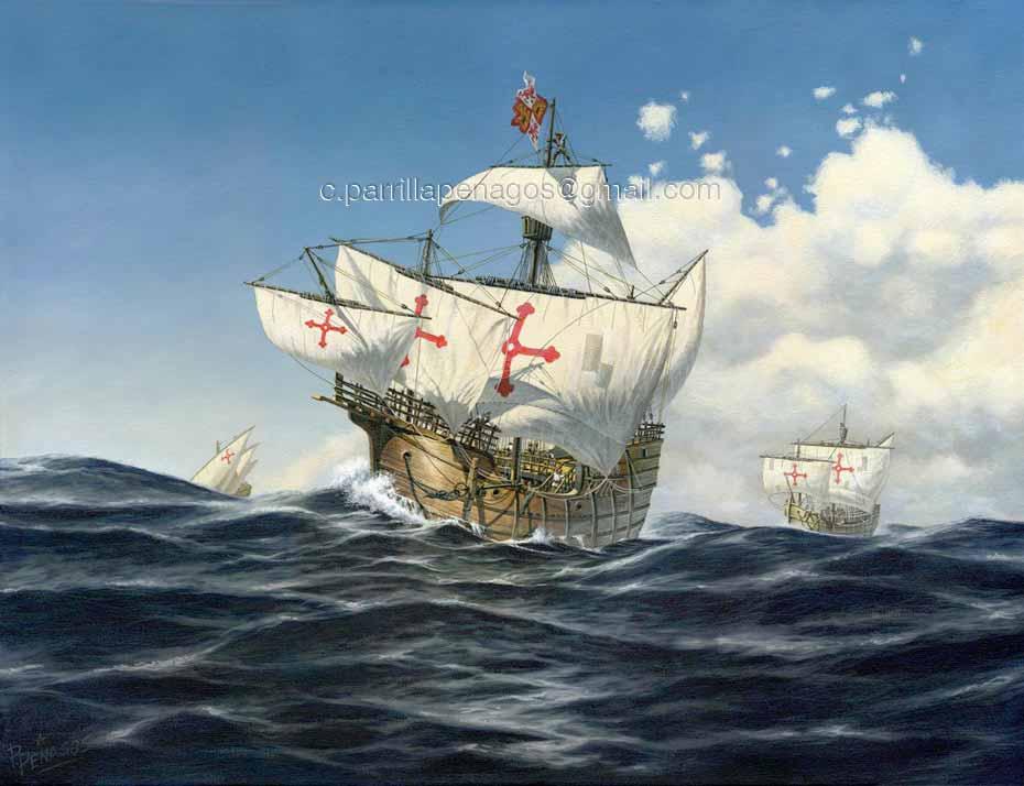 Pintura mil cuatrocientos noventa y dos, de Carlos Parrilla