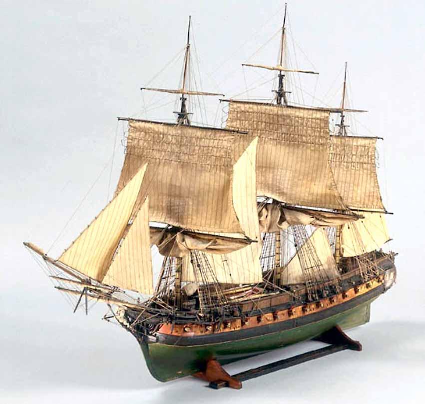 Modelo de la fragata francesa Muiron