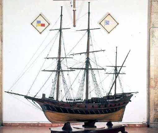 Modelo del jabeque San Antonio, del Museo Marítimo de Barcelona.