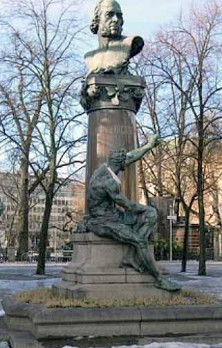 Monumento a John Ericsson en Estocolmo, Suecia.