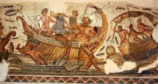 Mosaico de Mougga, Dionisos perseguido por los piratas