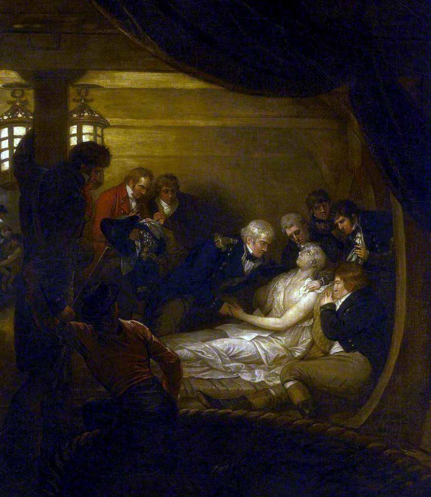 La muerte de Nelson en el interior del Victory