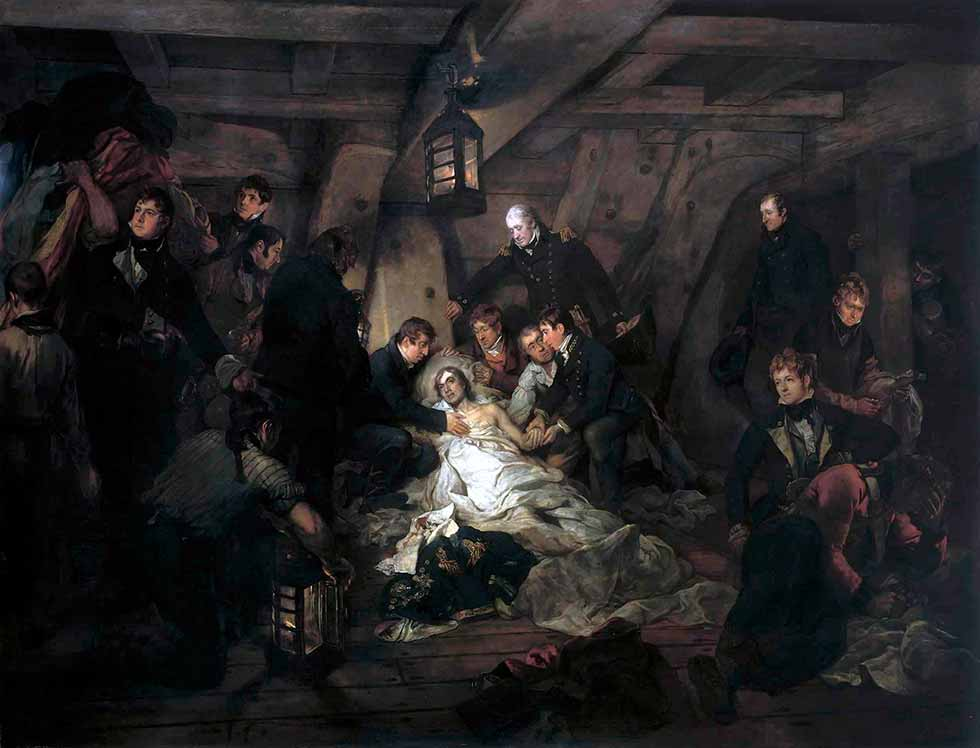 La muerte de Nelson, 21 de octubre de 1805.