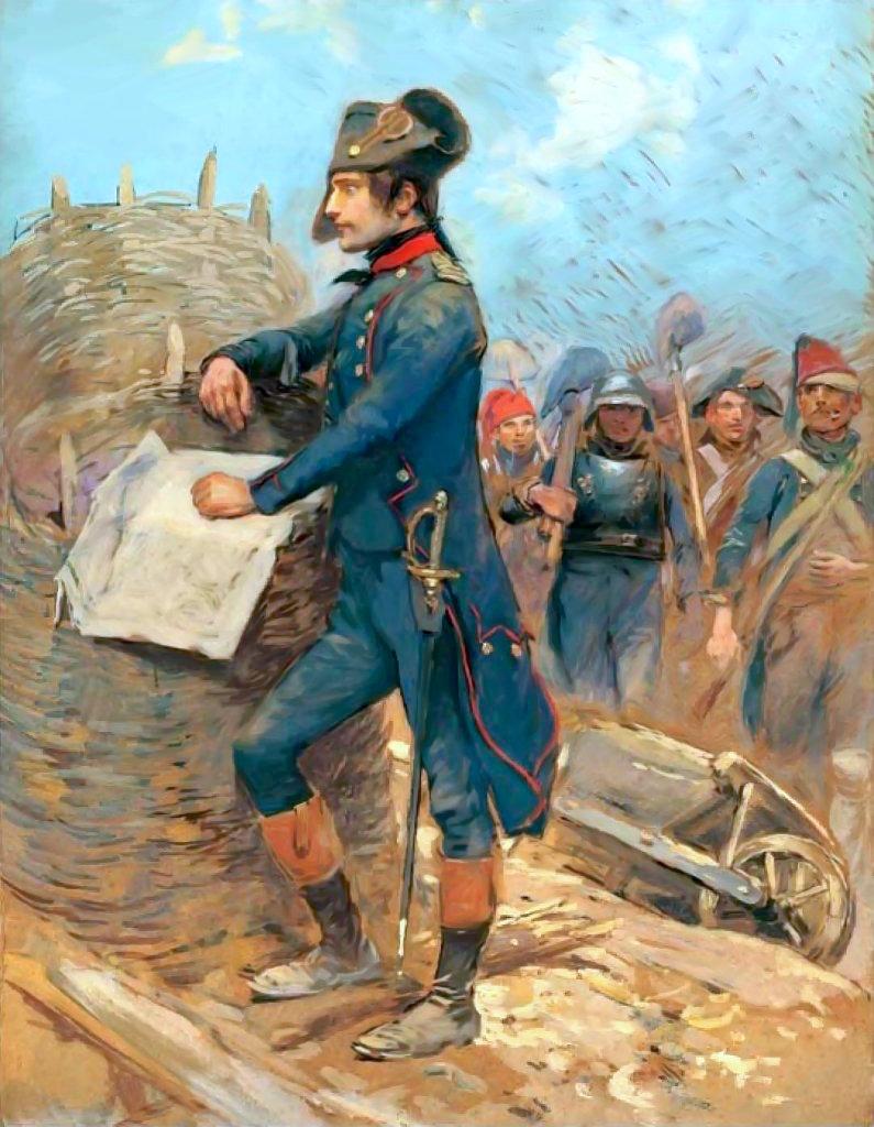 Bonaparte en el asedio de Toulon, 1793 , lienzo de Édouard Detaille, Museo del Ejército.