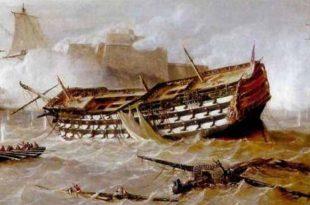Naufragio del navío Fernando VII