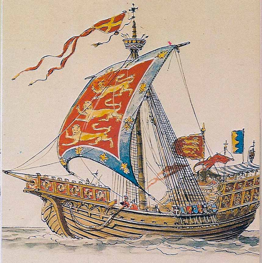 Nave redonda del siglo XIII. De Rafael Monleón. Museo Naval de Madrid.