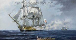 Navío África. Pintura de Carlos Parrilla
