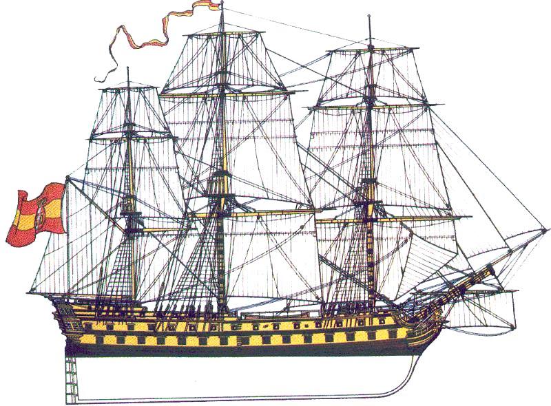 Navío de línea Bahama, de 74 cañones que capturó a la fragata Imperieuse
