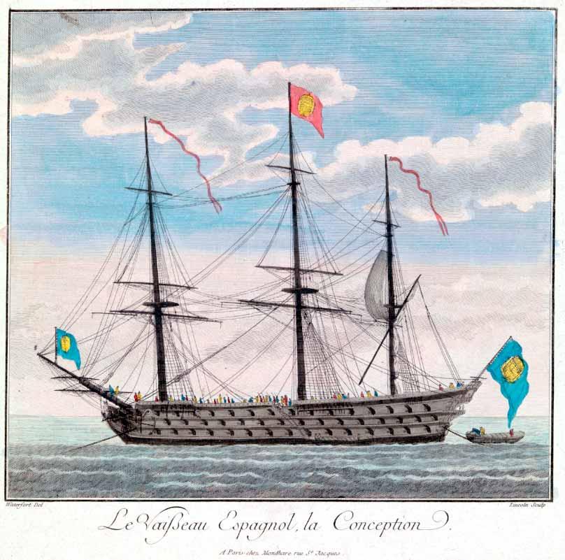 Extraña vista del navío Purísima Concepción