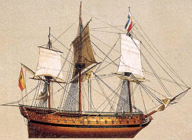 Navío español de 74 cañones