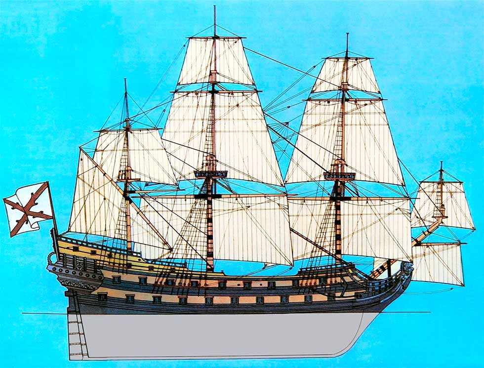 Imagen de Rafael Berenguer y Moreno de Guerra de un navío español del siglo XVII