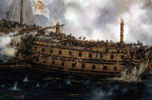 Último combate del navío Glorioso