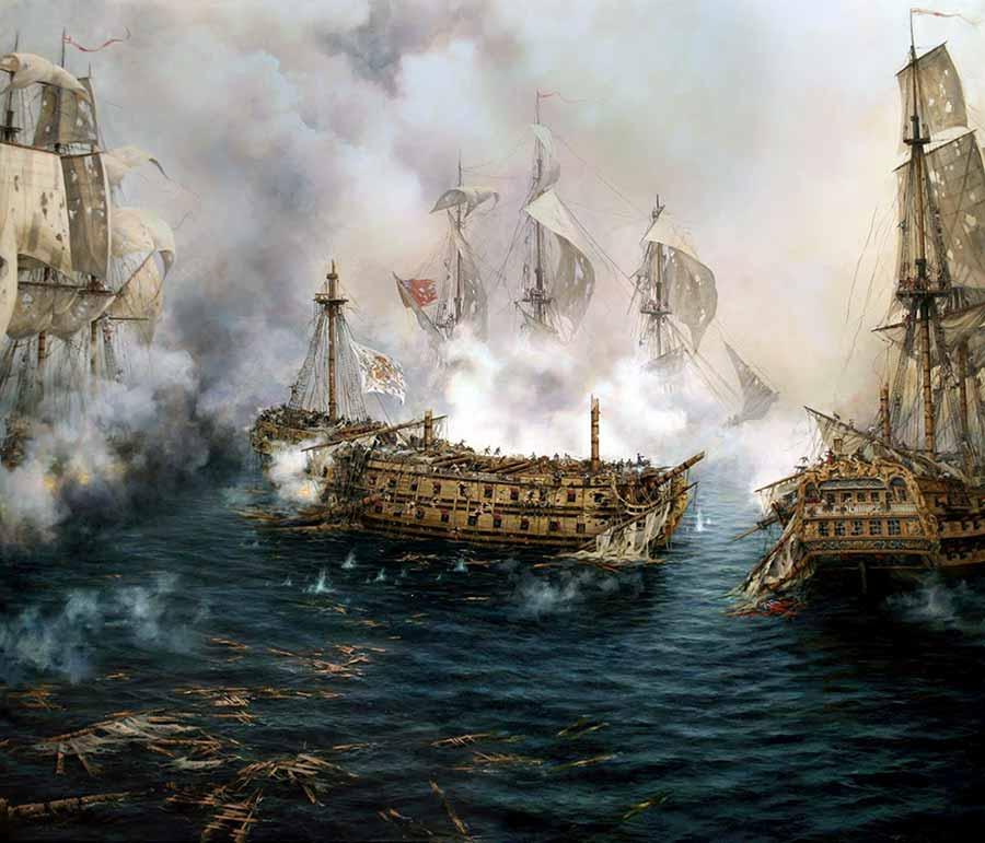 Navío Glorioso en su último combate